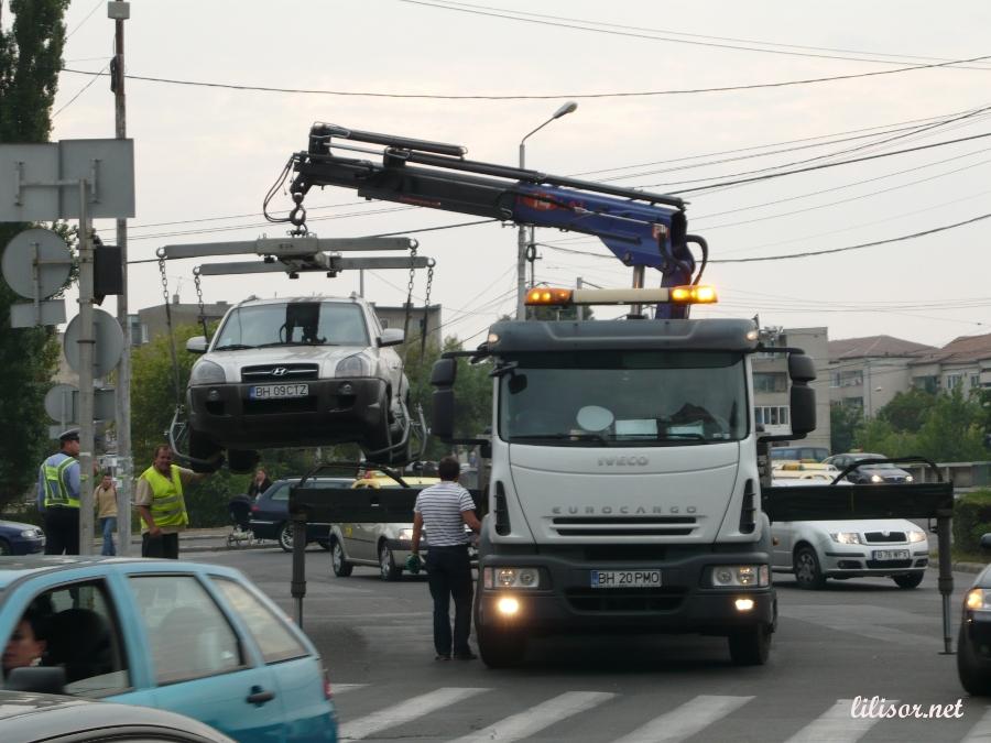 Masina ridicata in Oradea