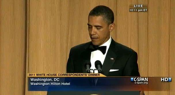 barack obama correspondents dinner 2011