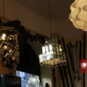lampa din razatori in lactobar retro bistro