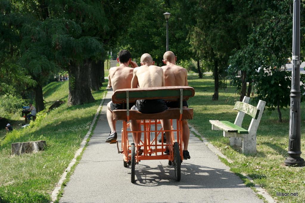 bicicleta cu patru roti din spate