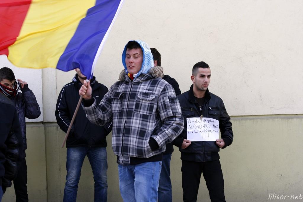 protestatari in Oradea 15 ianuarie