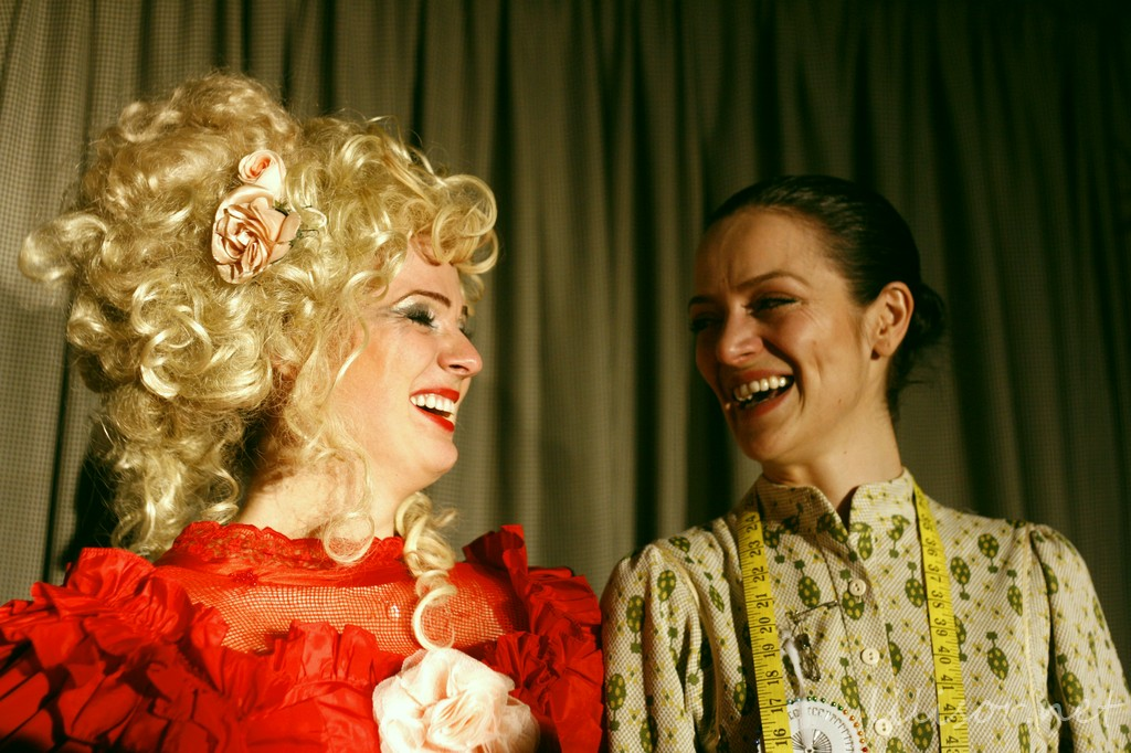 Actrita cu Mihaela Gherdan si Adela Lazar