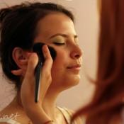 Eliza during makeup