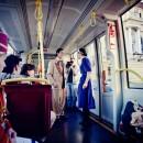 Caragiale in tramvai