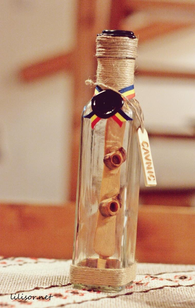o sticla de palinca
