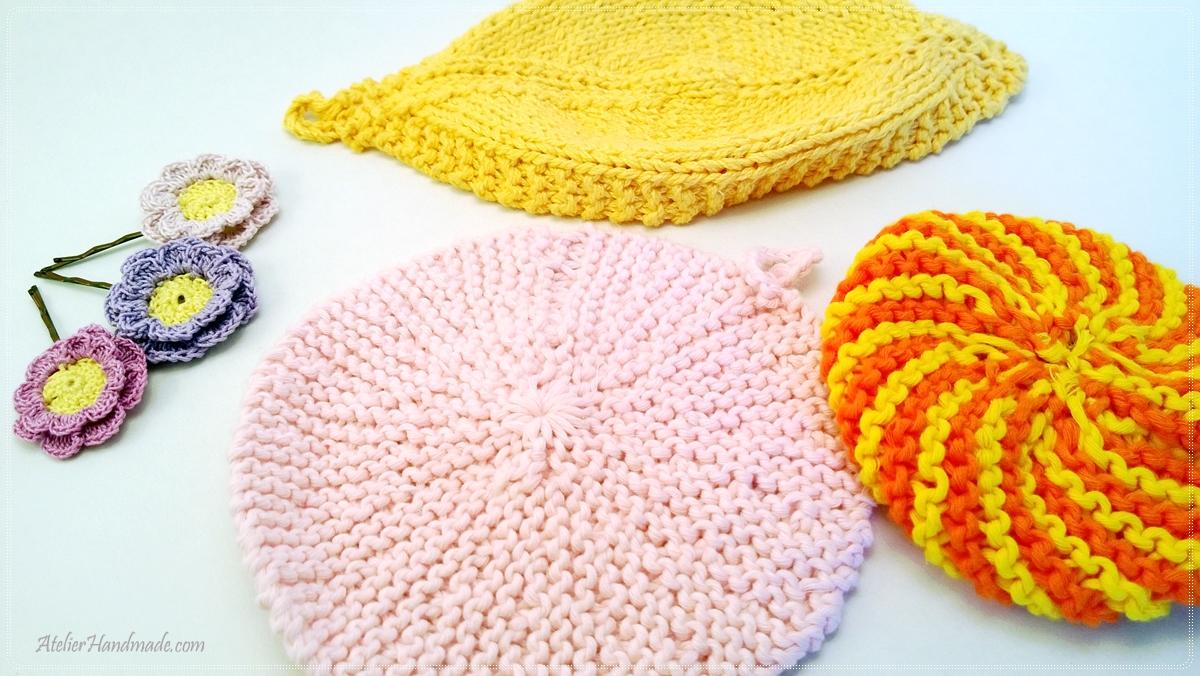 agrafe si servetele tricotate