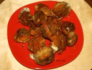 ciuperci umplute pane