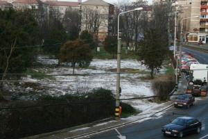 snow in Oradea