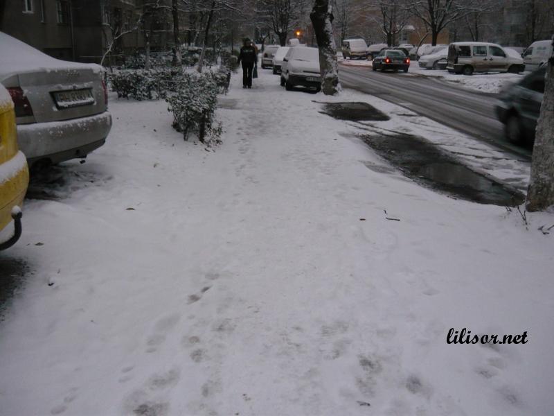 trotuare cu zapada in Oradea