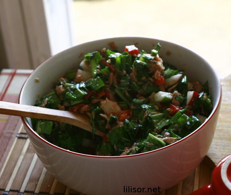 salata de leurda cu ton