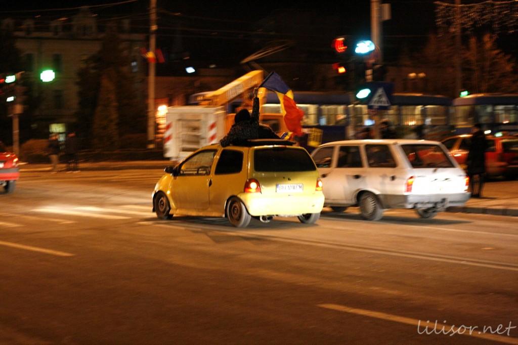masina cu steaguri