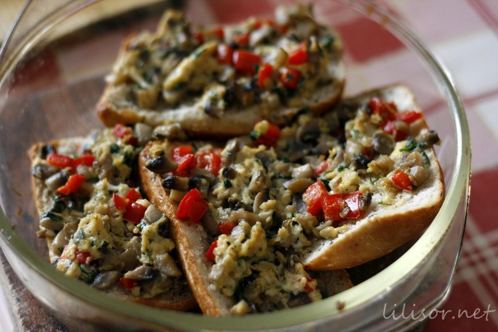 brunch cu ciuperci