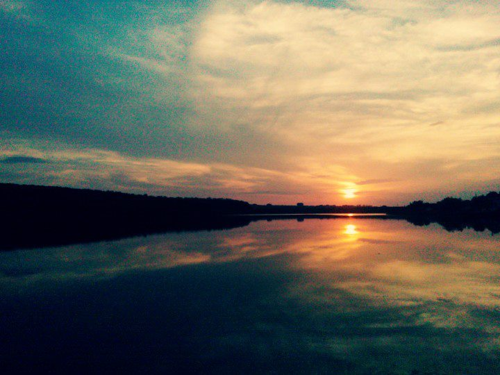 lacul paleu apus