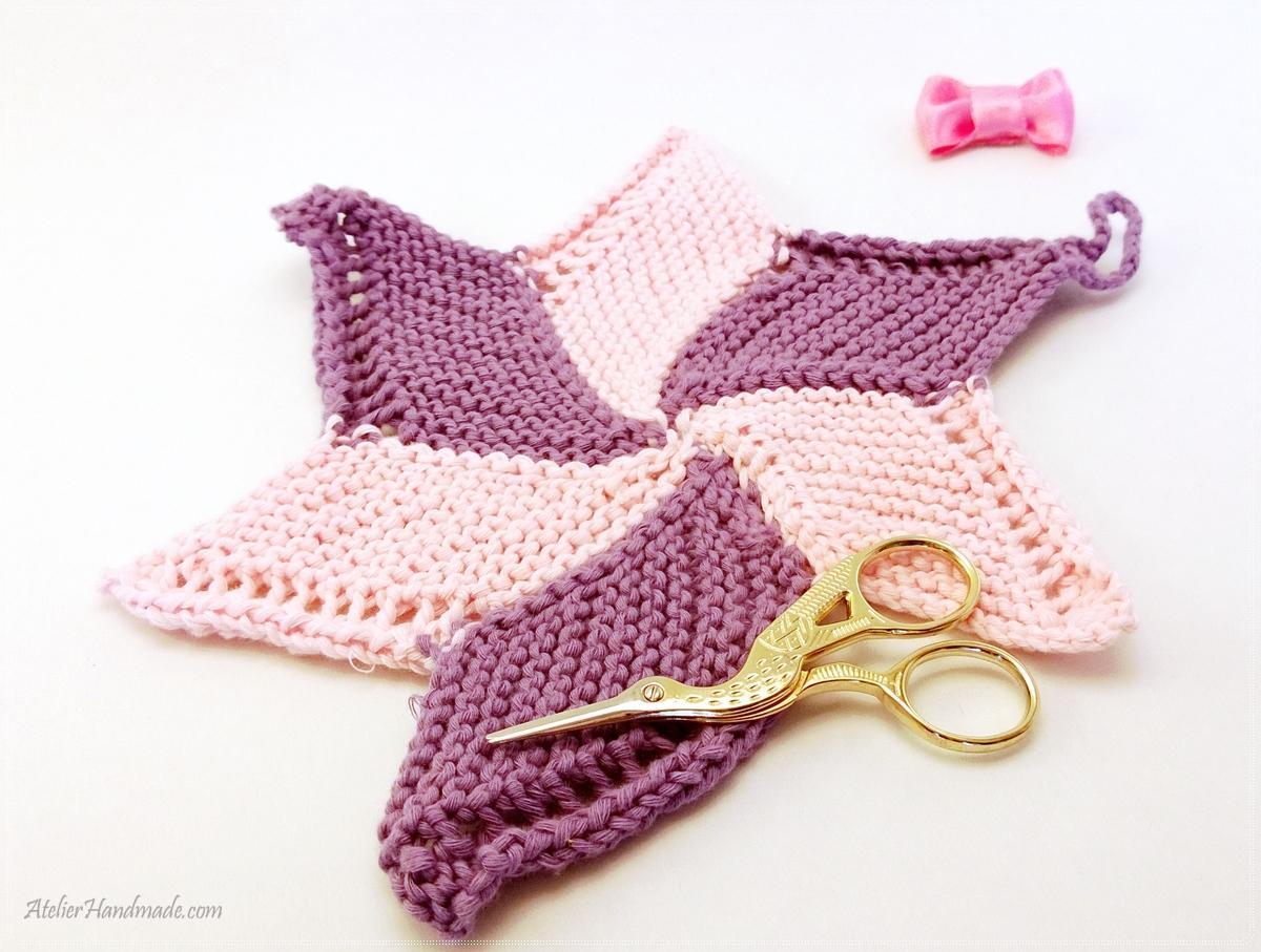 steluta mov tricotata