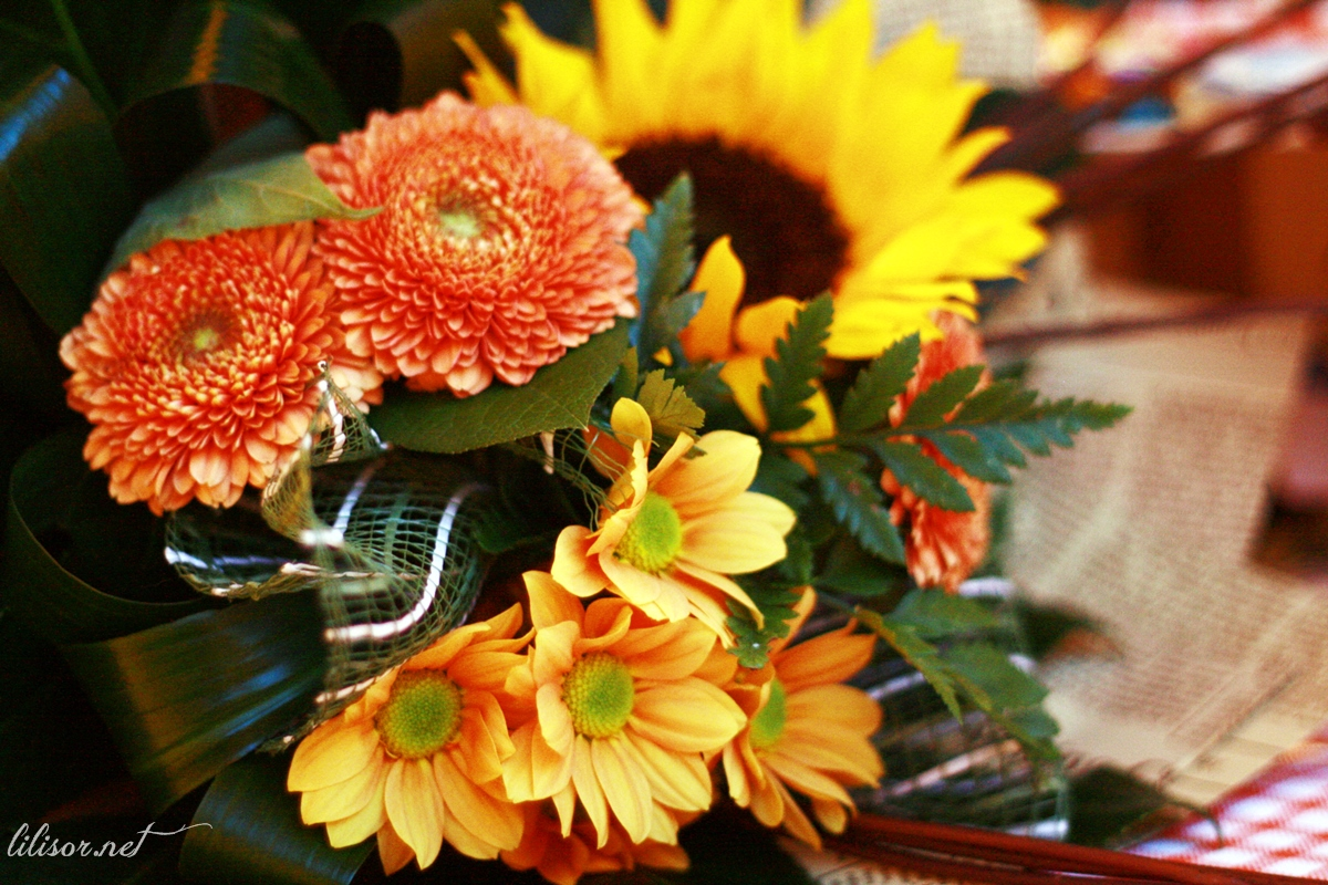 buchet de flori kreativ