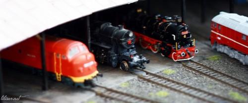 depou de locomotive miniatura