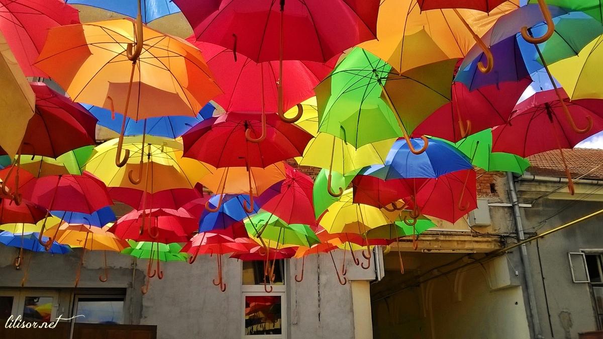 umbrele colorate in oradea